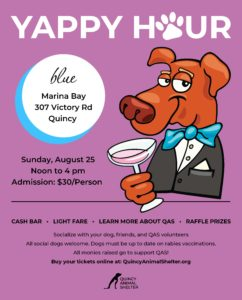 Yappy Hour @ Blue at Marina Bay | Quincy | Massachusetts | United States